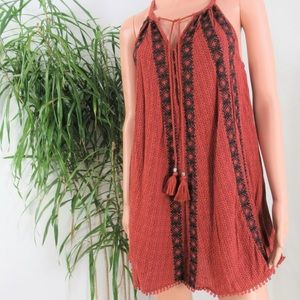 American Eagle Outfitters Embroidered Shift Dress
